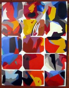 """Körperfarben"", Acryl auf Lw. 90X70 cm"