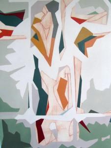 Menschsein 1 _ Acryl auf Büttenkarton, 78X58 cm, 2015